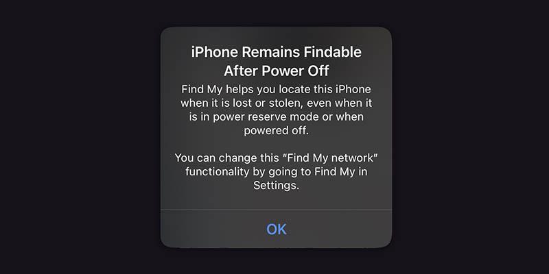 iPhone Zoek mijn offline