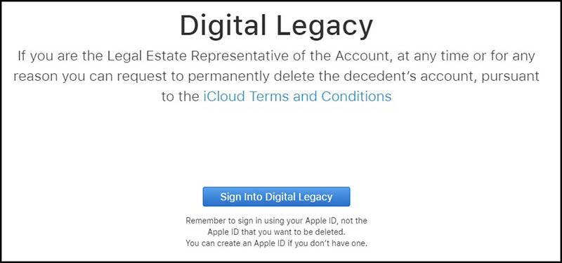 Apple Digital Legacy