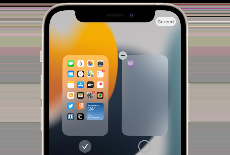 iOS 15 beginscherm verwijderen.