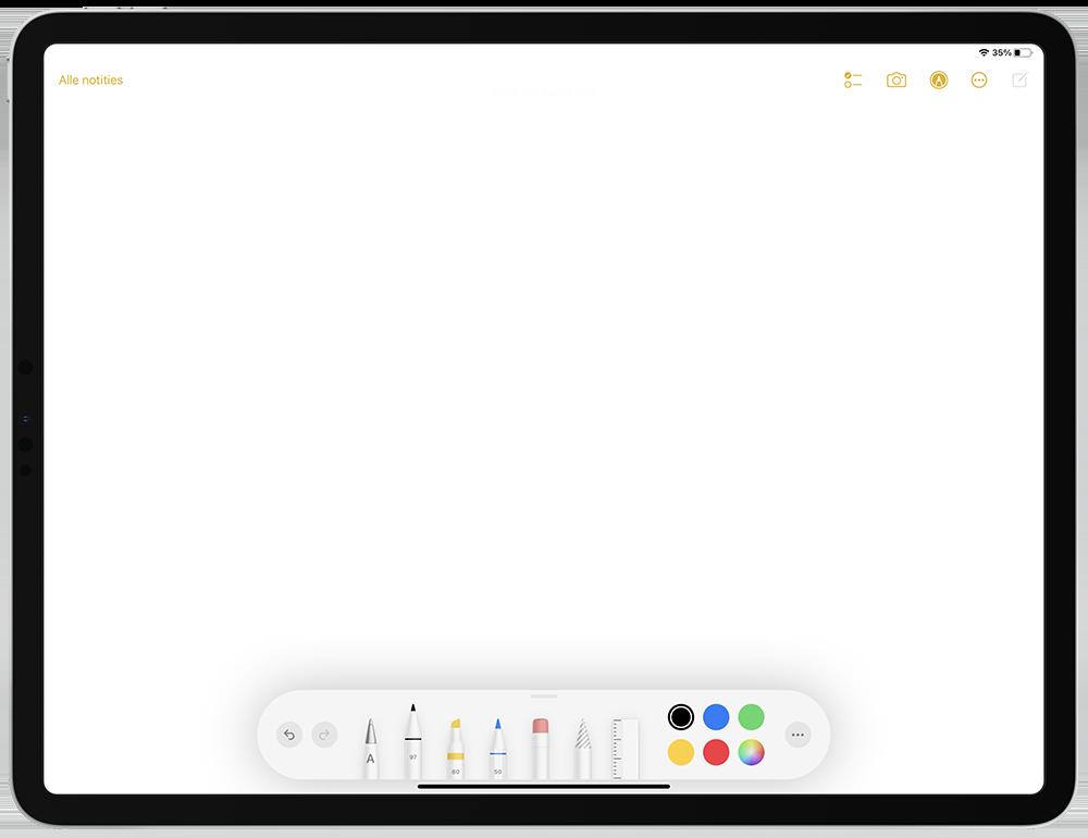 Snelle notitie op toegangsscherm