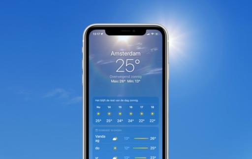 Weer-app in iOS 15.