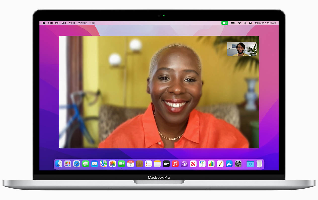 macOS FaceTime portretten