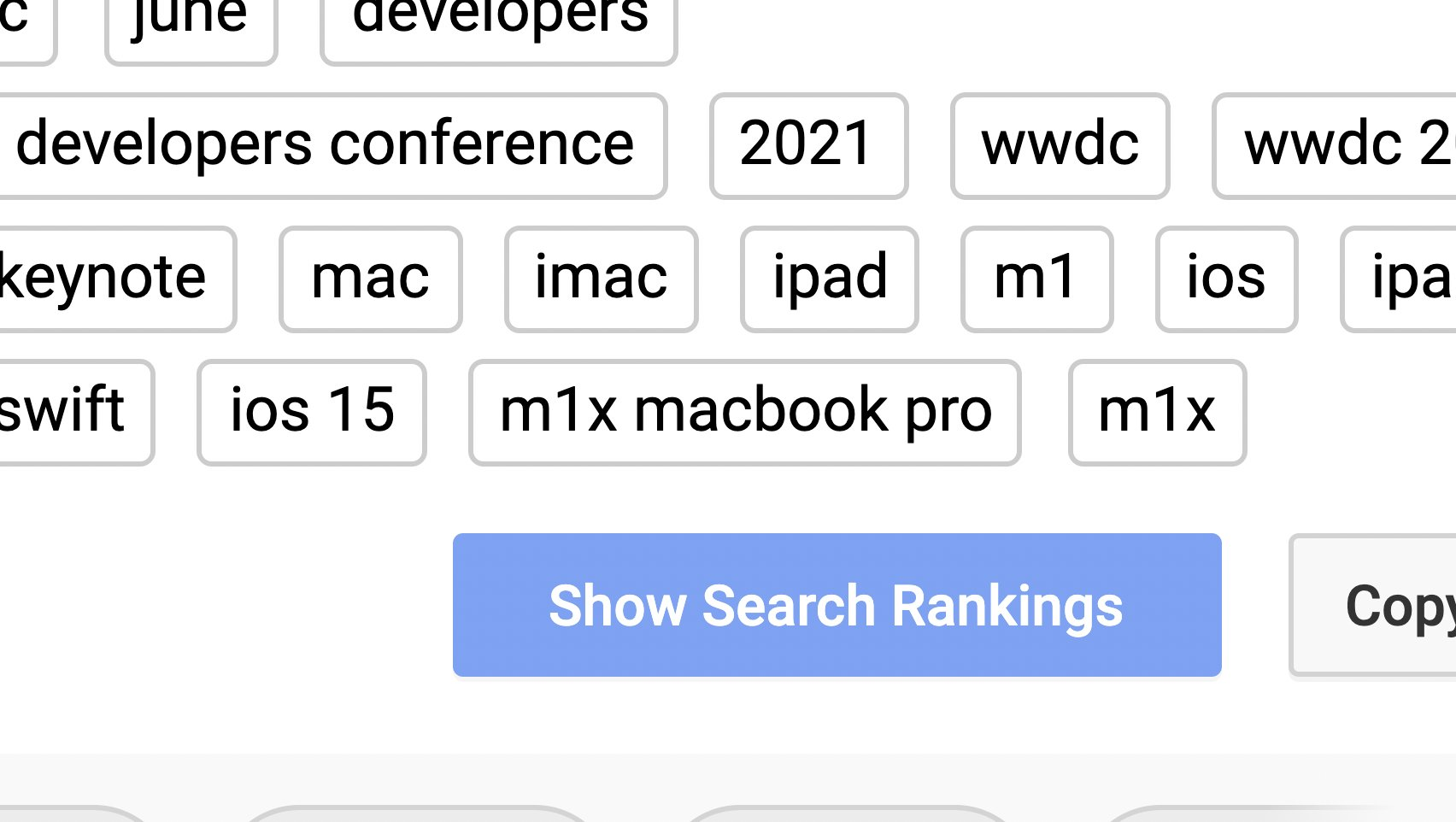 M1X MacBook Pro in YouTube tags.