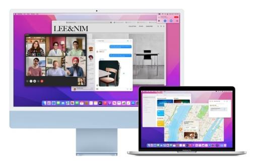 macOS Monterey met iMac en MacBook.
