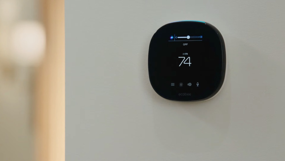 Siri op een HomeKit thermostaat.