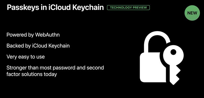 Passkeys iCloud Keychain