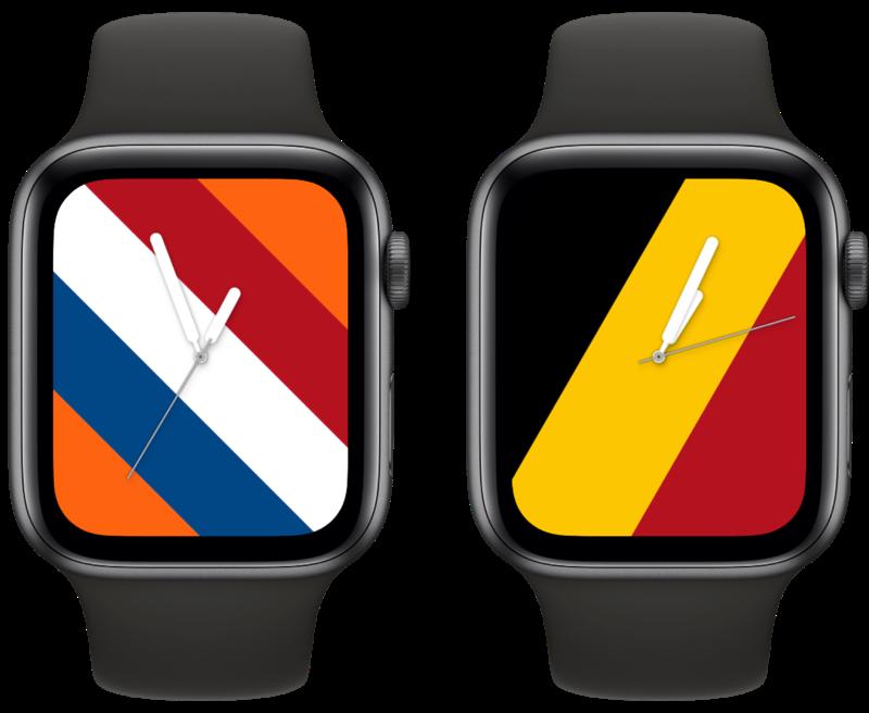 Vlaggen wijzerplaat op Apple Watch voor Nederland en België
