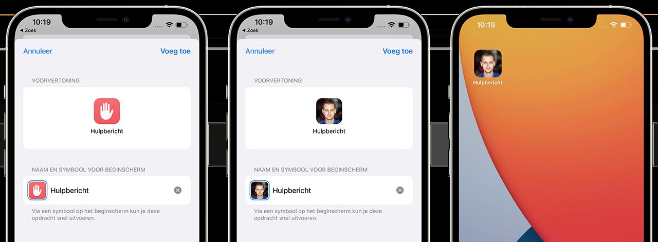 Hulpbericht-icoon-op-scherm