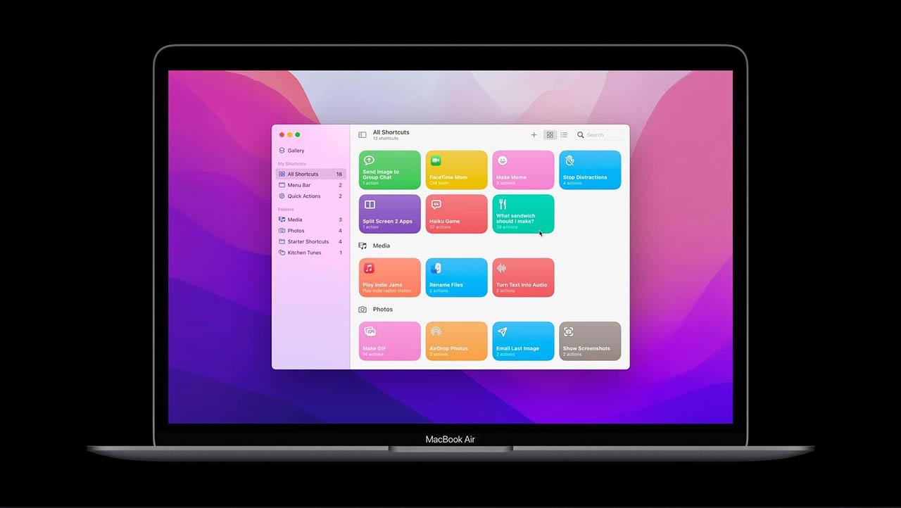 Siri Shortcuts op de Mac