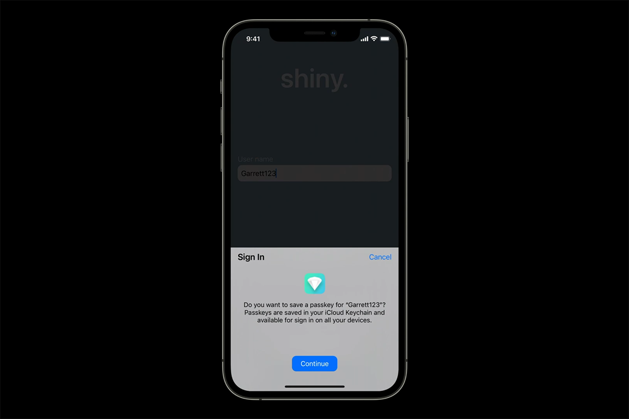 Passkey in iOS 15