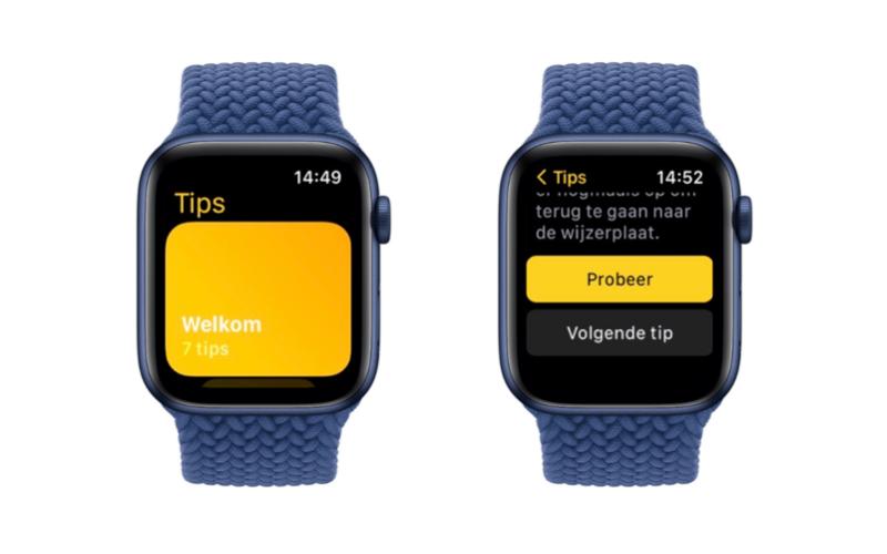 watchOS 8: Tips-app op Apple Watch.