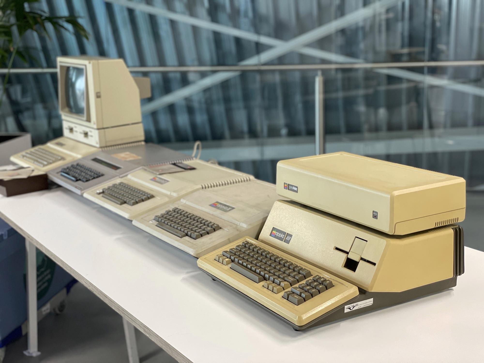 Stukken in Apple Museum van Amac.