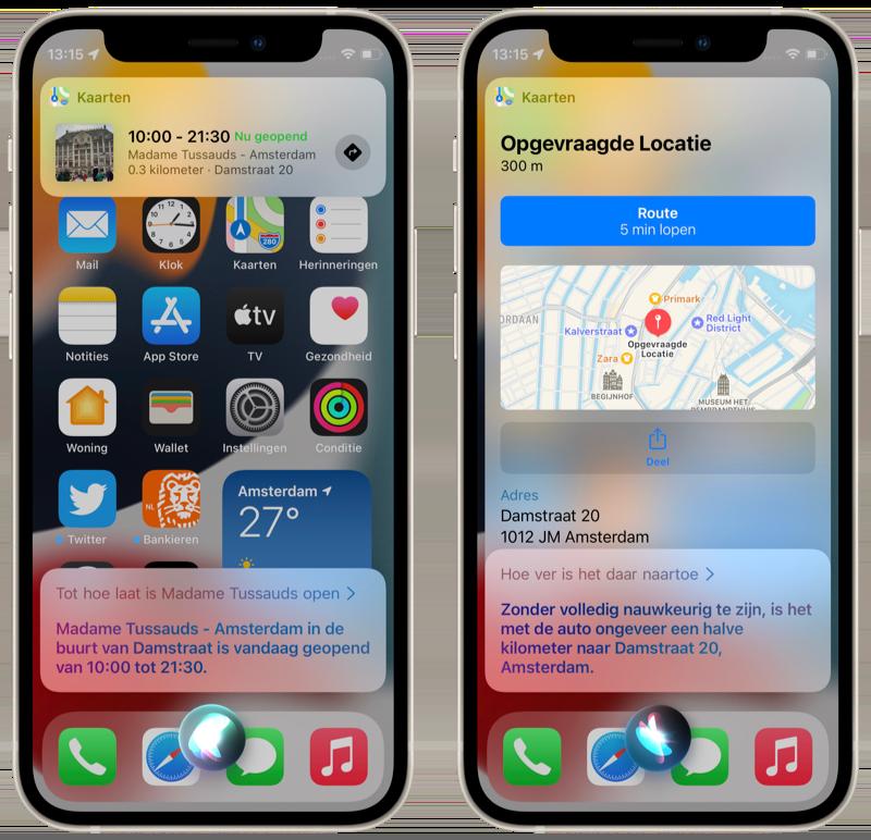 Doorvragen bij Siri in iOS 15.