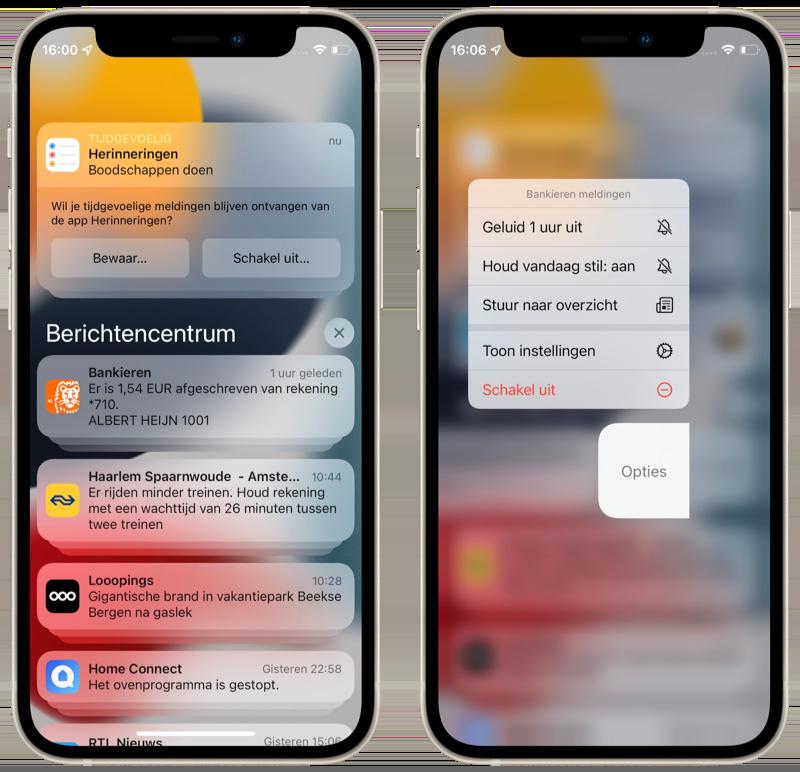 iOS 15 preview: notificaties in een nieuw jasje.