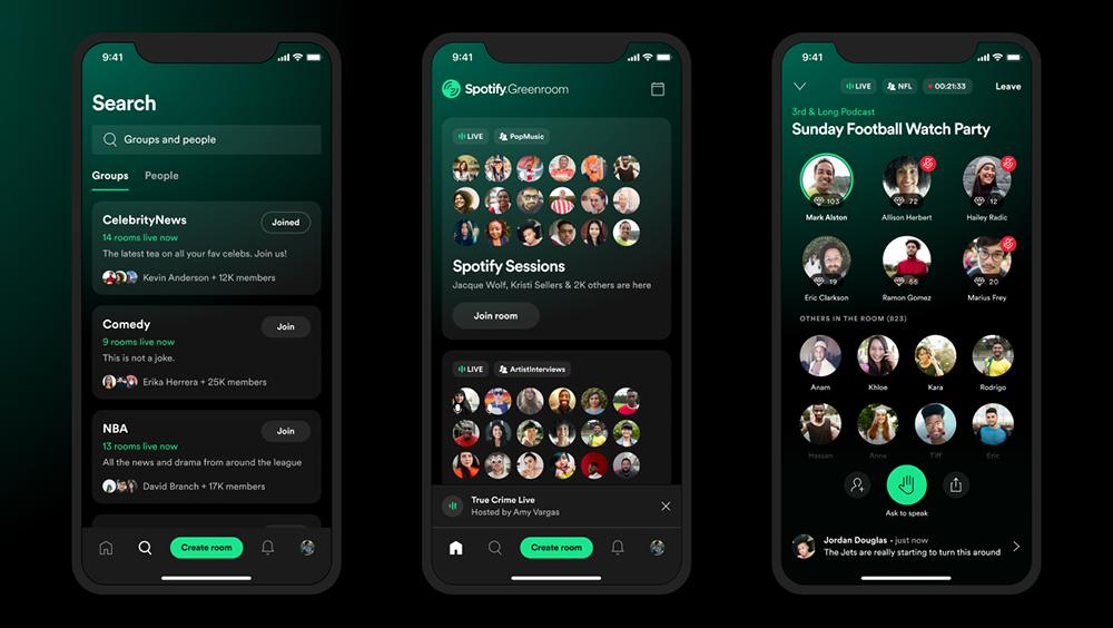 Spotify Greenroom op iPhone