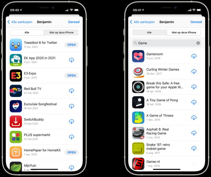 Apps opnieuw downloaden uit de App Store.