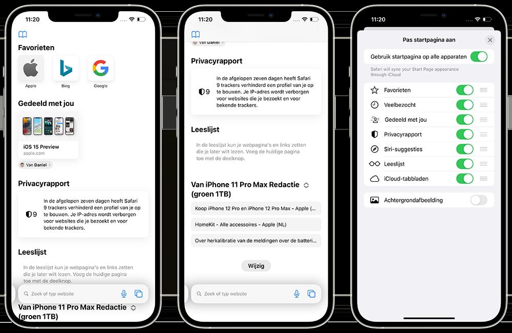 Wallpaper instellen in Safari op iPhone