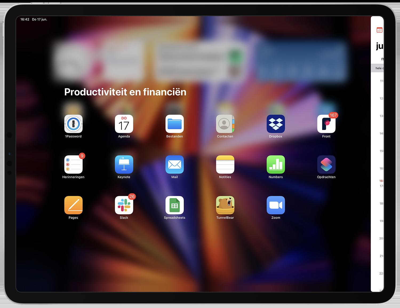 Split View tweede app kiezen
