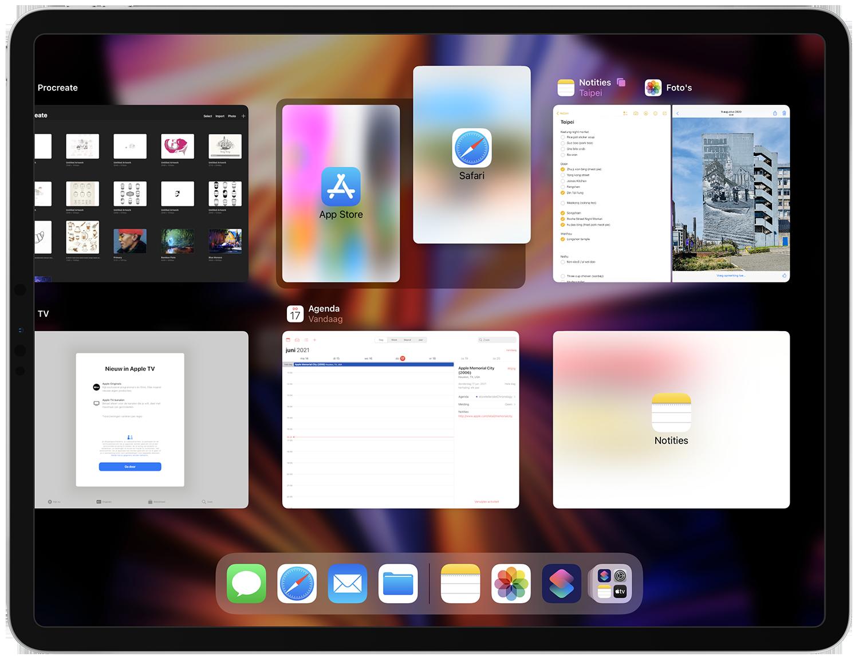 Multitasking op iPadOS 15
