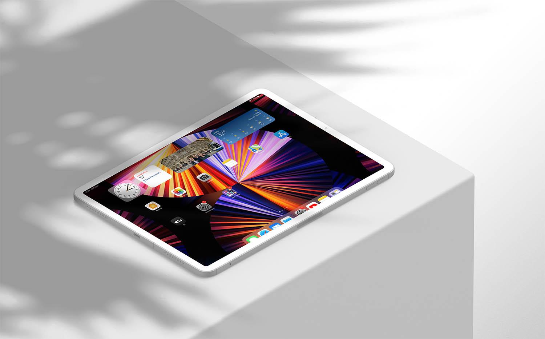 iPadOS 15 beginscherm mockup