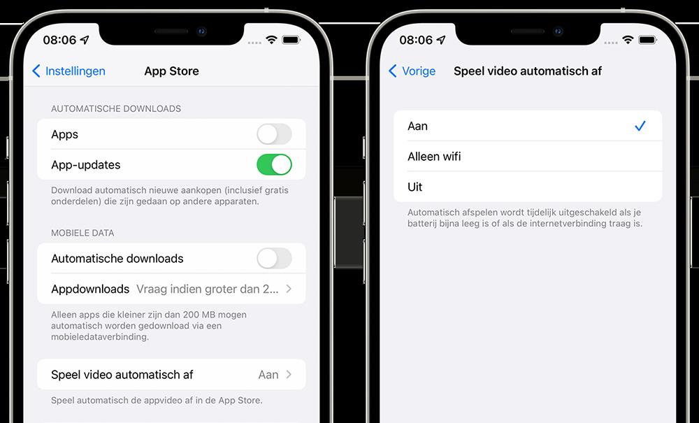 App Store videos afspelen