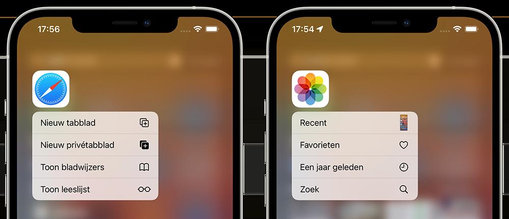 Spotlight: actie uitvoeren met app