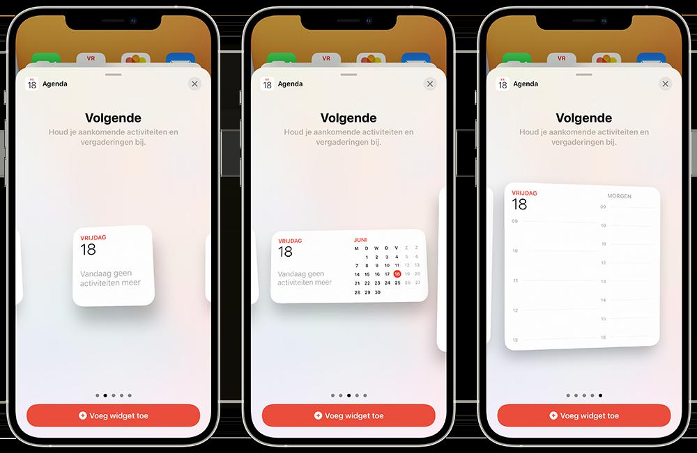 Agenda widgets