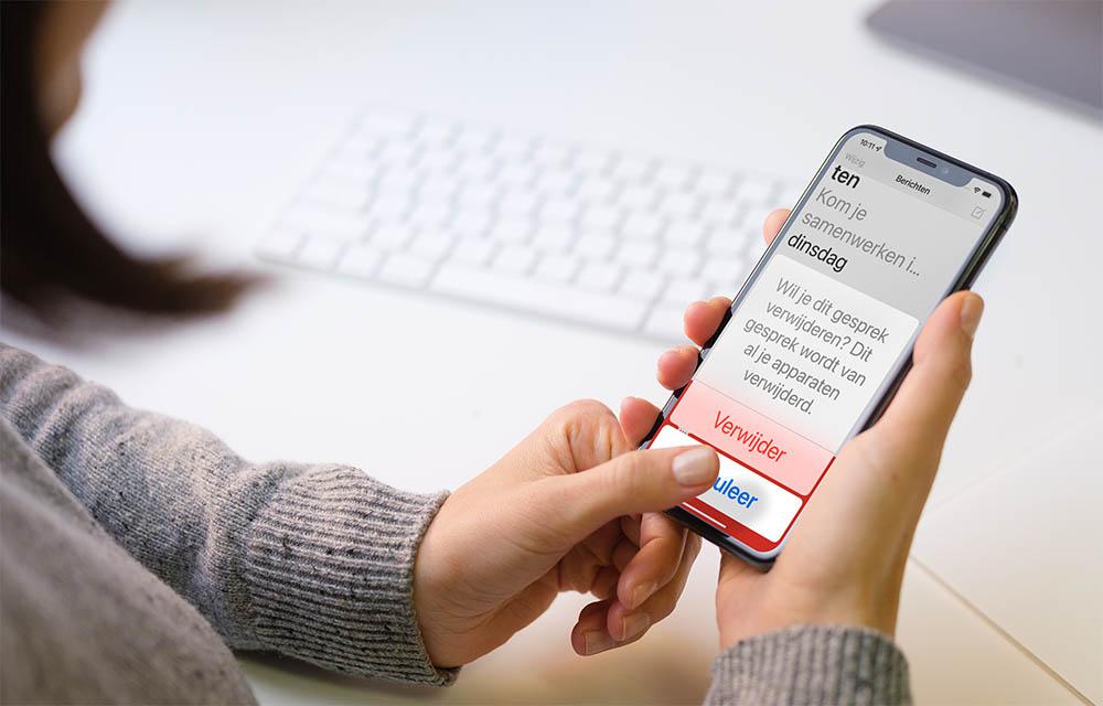 Grote tekst per app