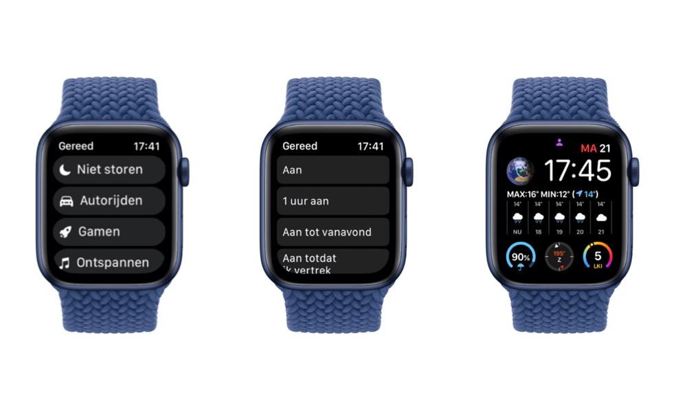 Apple Watch Focus in watchOS 8.