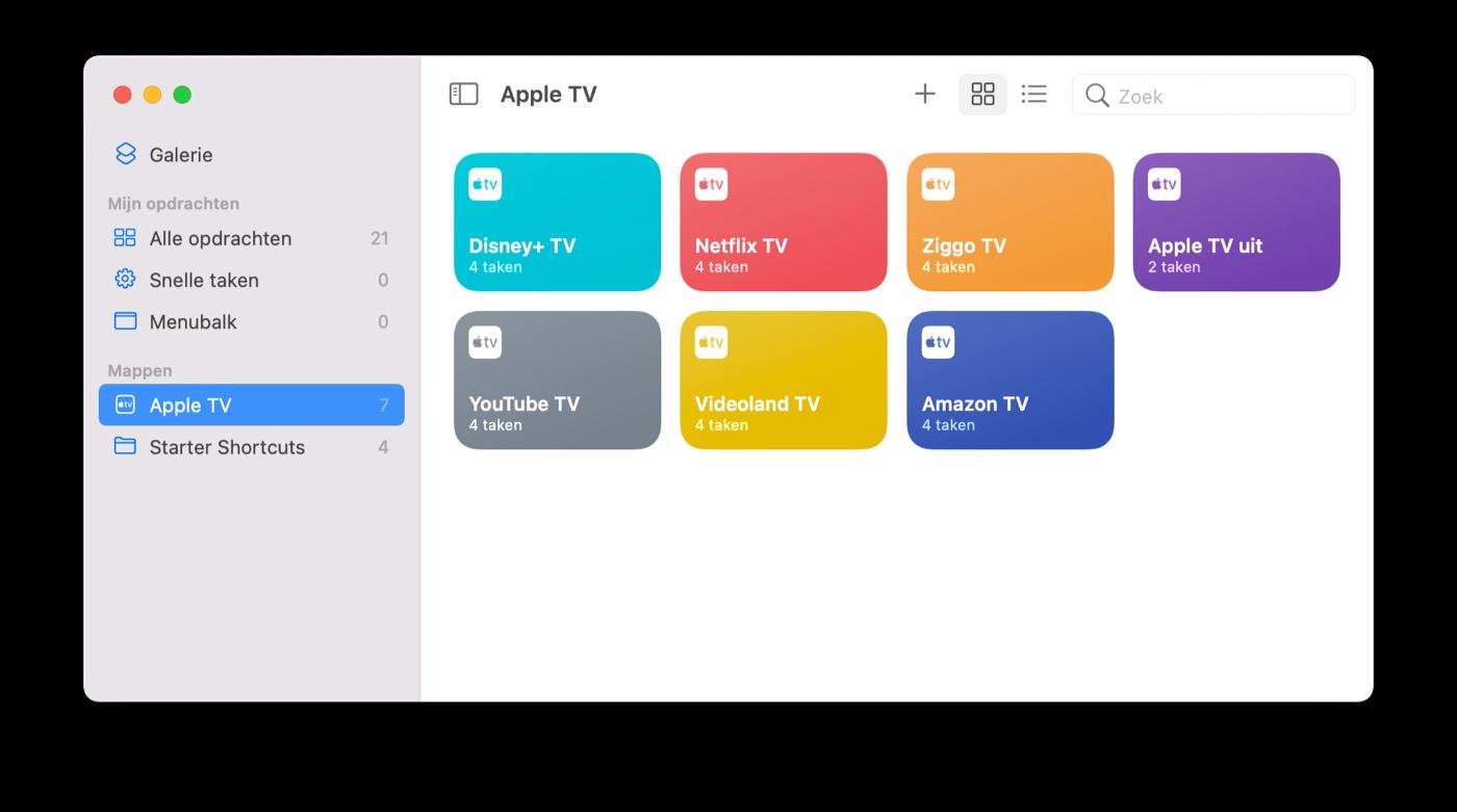 Opdrachten-app macOS Monterey
