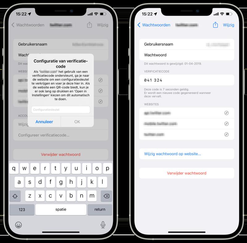 iCloud Sleutelhanger twee-factor-authenticatie