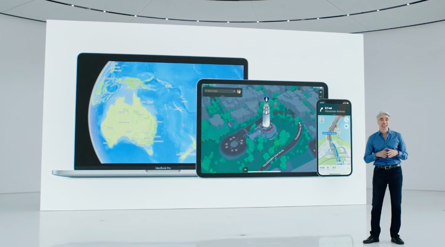 Apple Kaarten in iOS 15, iPadOS 15 en macOS Monterey.