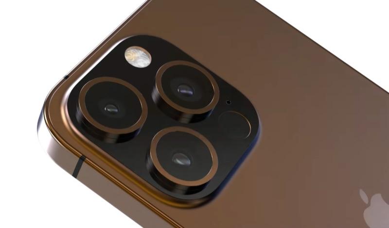 iPhone 13 Pro concept met camera.