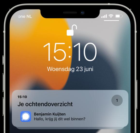Gepland overzicht iPhone