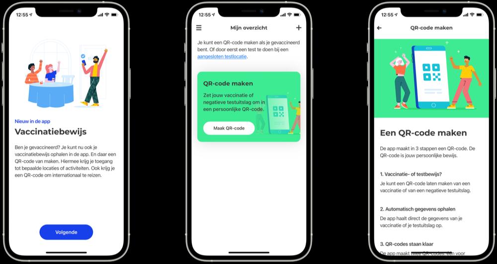 CoronaCheck-app QR-code maken.