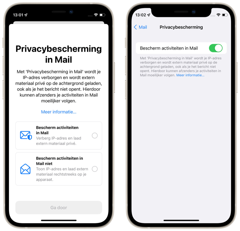 Privacybescherming in Mail in iOS 15.