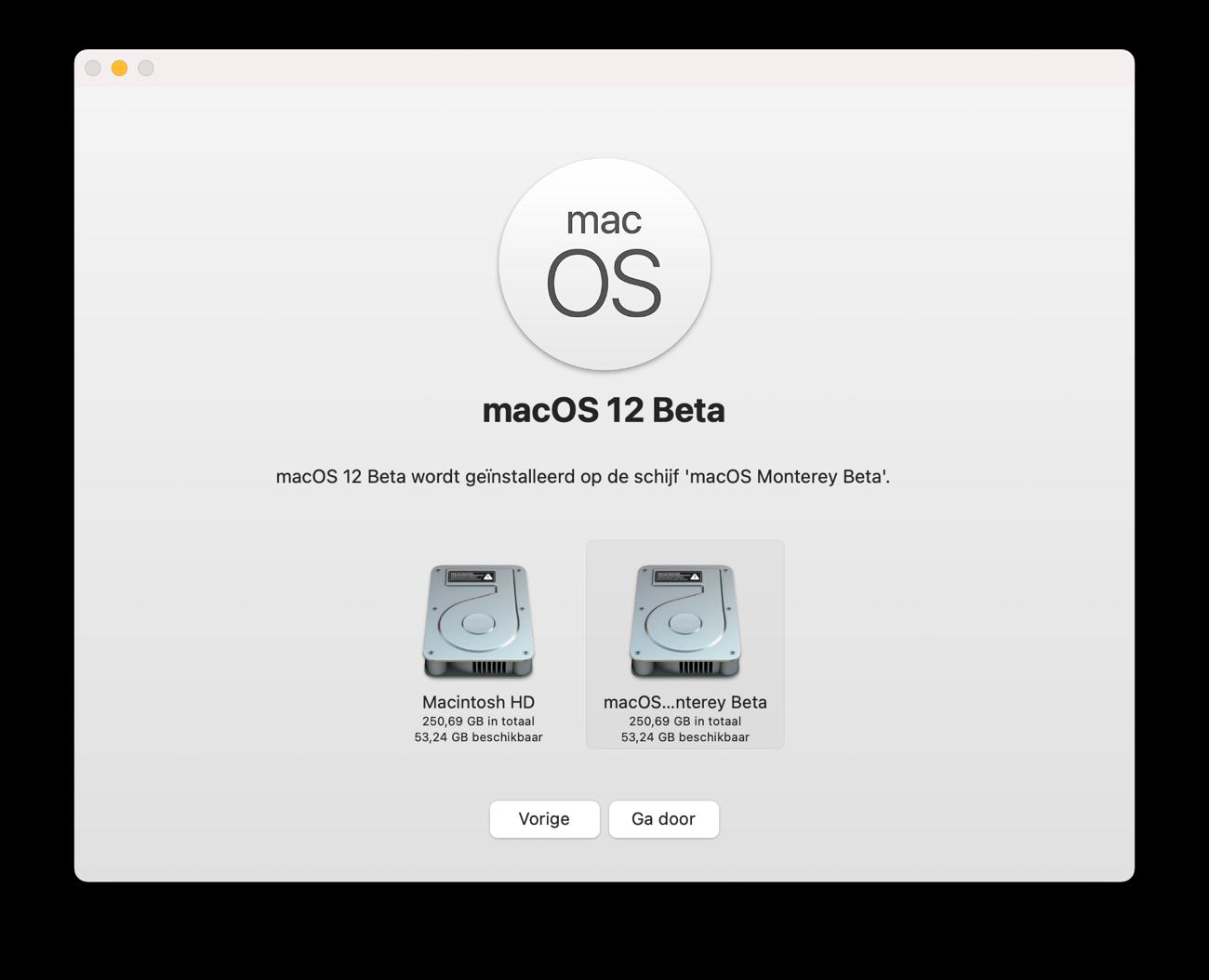 macOS Monterey beta installeren 3