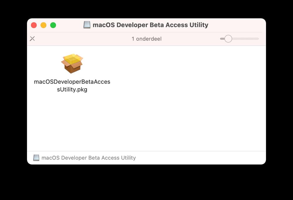 macOS Beta profiel installeren