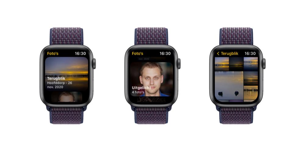 Apple Watch: watchOS 8 met nieuwe Foto's-app.
