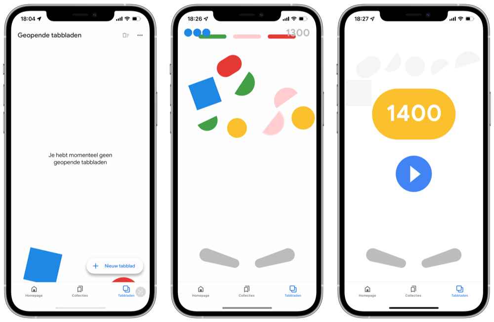 Easter egg Google app flipperen