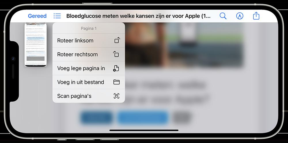 PDF bewerken op iPhone