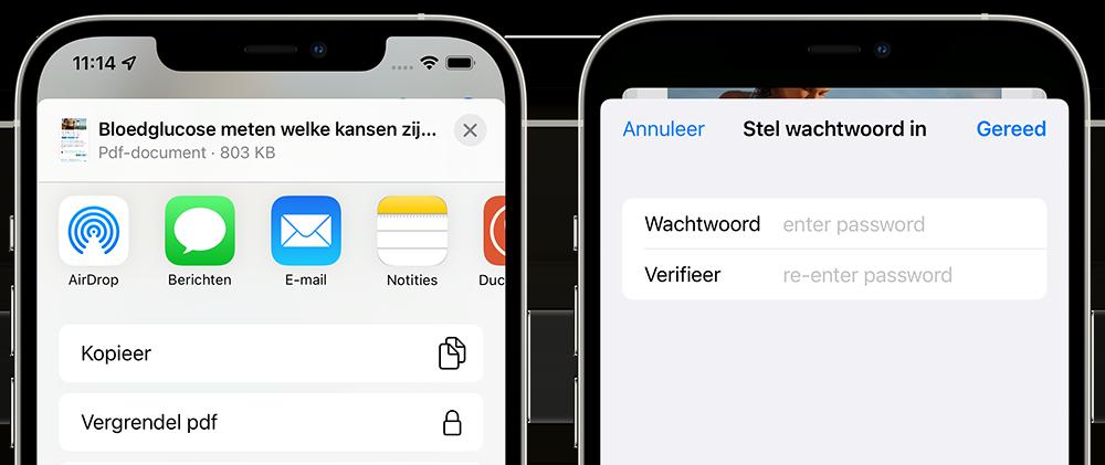 PDF wachtwoord instellen