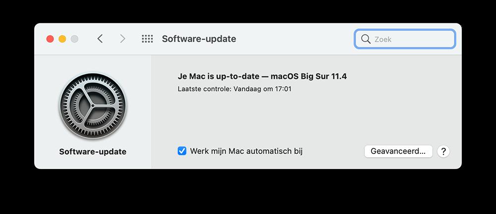 macOS update checken
