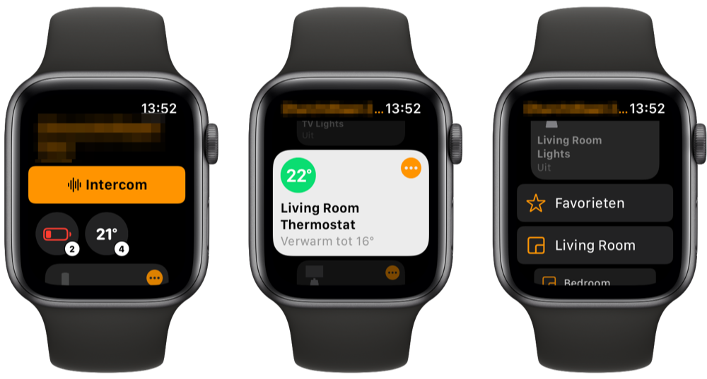 Woning-app Apple Watch watchOS 8