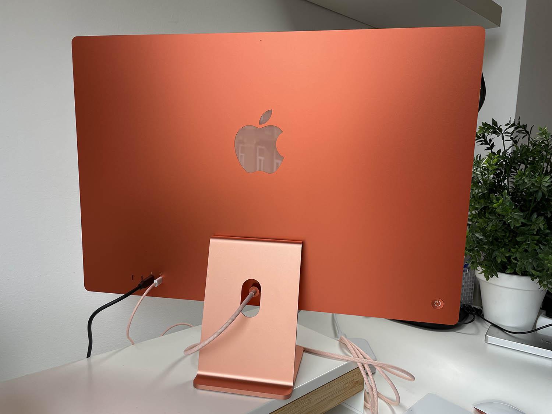 Achterkant van de iMac 2021