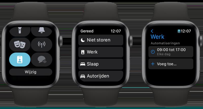 Focus op Apple Watch watchOS 8