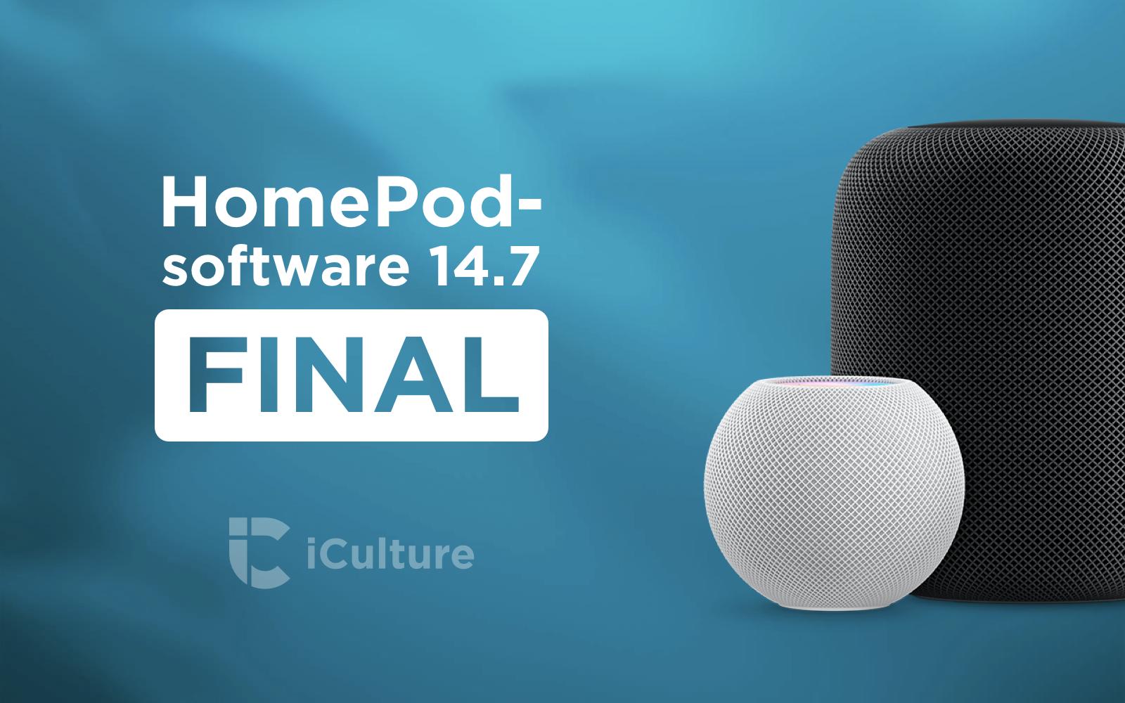 HomePod software-versie 14.7.