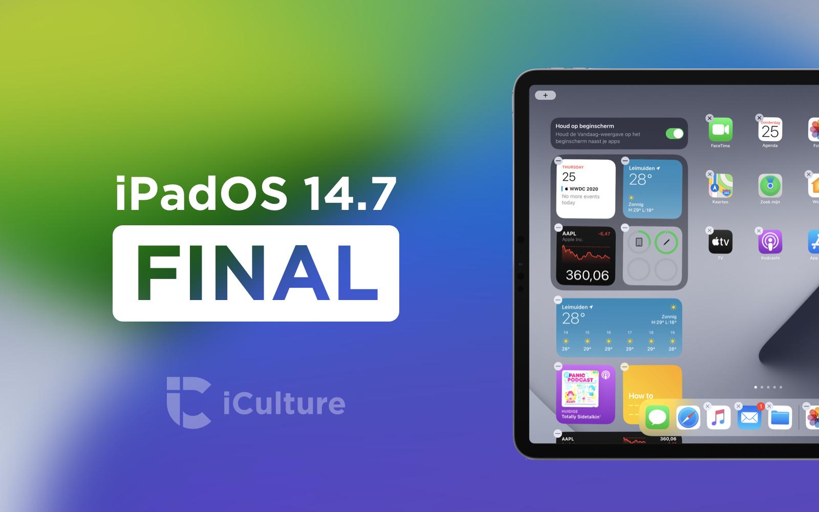 iPadOS 14.7 Final.