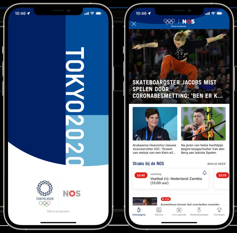 NOS app Olympische Spelen 2020