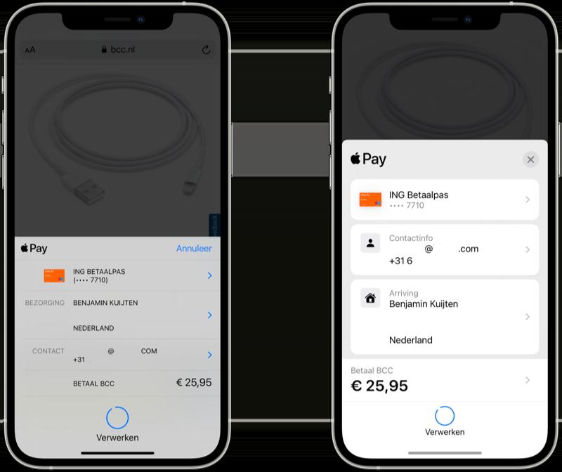 Apple Pay: online betaalscherm in iOS 15 vernieuwd.